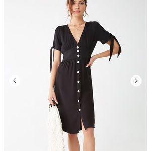 Midi Black Dress forever 21